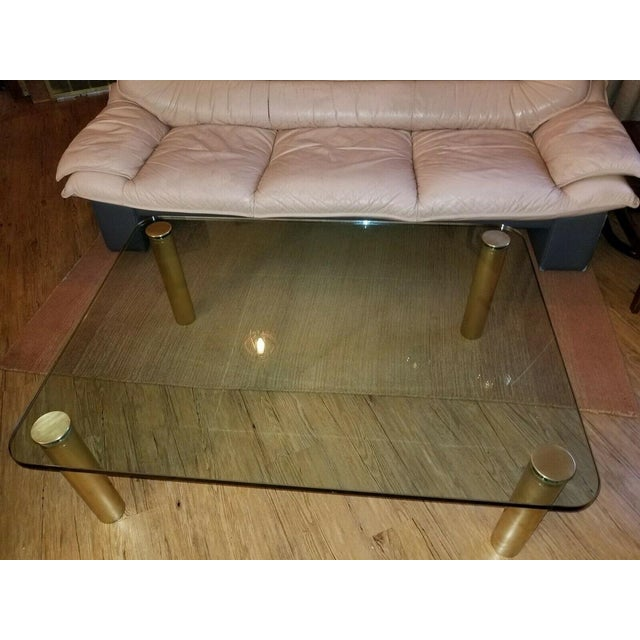 Brass and Glass Coffee Table by the Pace Collection Leon Rosen For Sale In Cleveland - Image 6 of 13