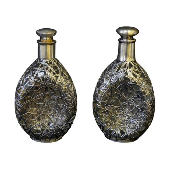 Silver Overlay Pinch Decanters - A Pair - Image 7 of 7