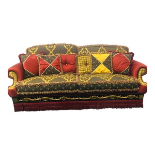 100% Made in Italy by Caspani Tino Part of the Siviglia Vip Collection Living Room, Traditional 3 Sitter Sofa For Sale