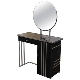 Machine Age Art Deco Royalchrome Dressing Table #347 by Royal Metal, 1936