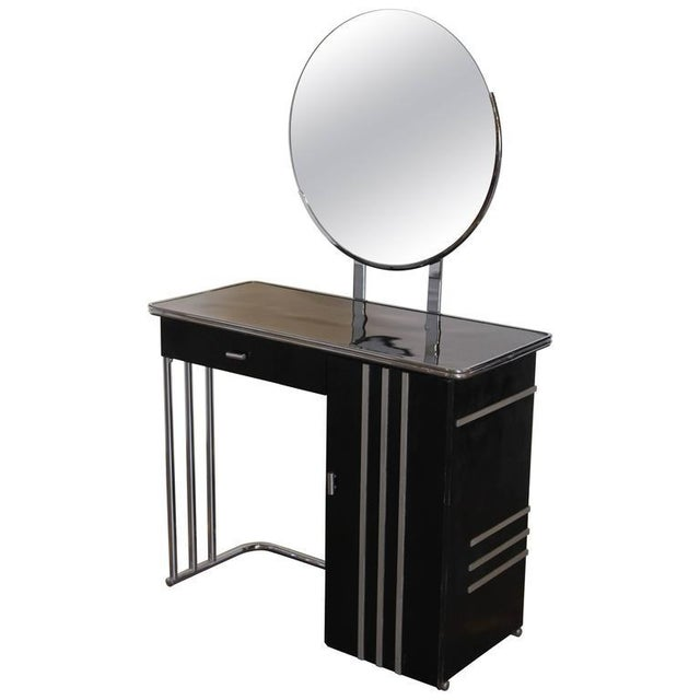Machine Age Art Deco Royalchrome Dressing Table #347 by Royal Metal, 1936 For Sale - Image 11 of 11