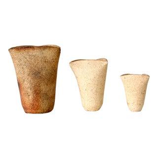 Vintage Studio Pottery Vase Collection - Set of 3 For Sale