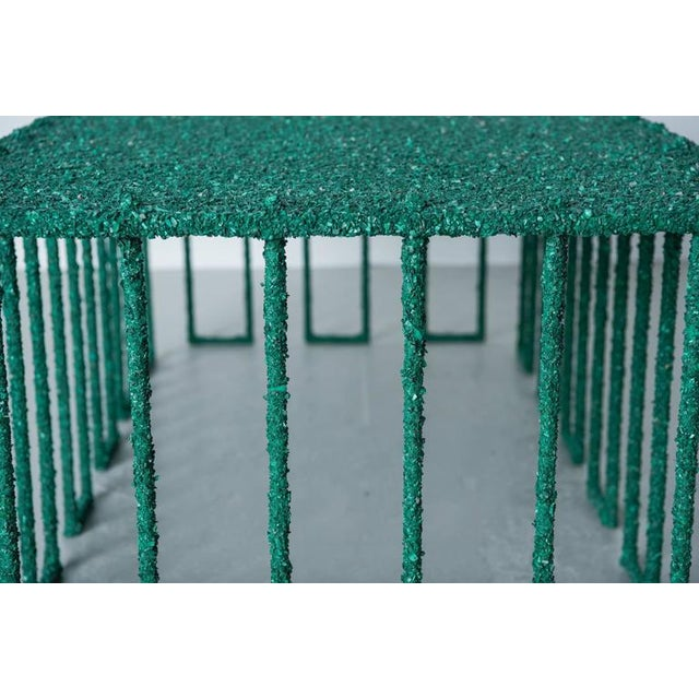 Hand Made Coffee Table of Crushed Malachite of the Congo, by Samuel Amoia For Sale In New York - Image 6 of 10