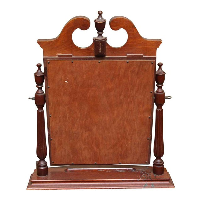 Brown Small Table Top Cheval Shaving Mirror For Image 8 Of 10