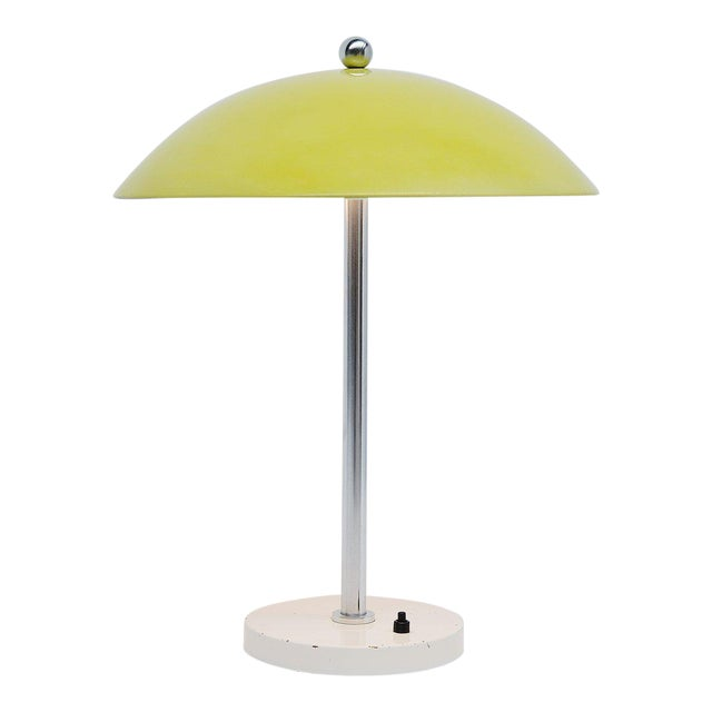 Wim Rietveld Yellow Mushroom Table Lamp by Gispen, 1950 For Sale
