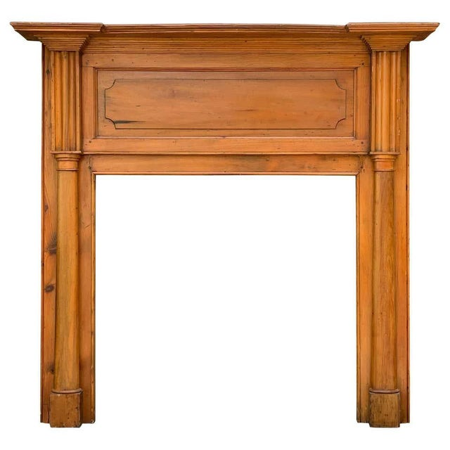 Early 19th Century Pine Fireplace Mantel For Sale - Image 13 of 13