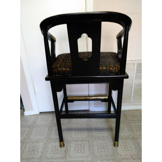 Century Chair Company Hickory Gold & Black Bar Counter Stools - A Pair - Image 11 of 11