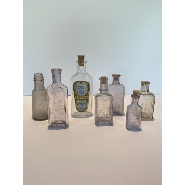 Vintage Glass Apothecary Bottles - Set of 7 For Sale - Image 11 of 11