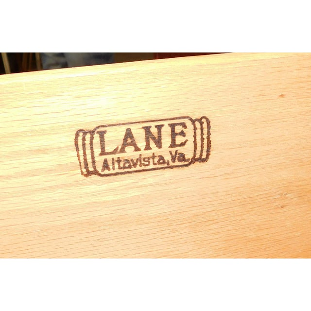 American Modern Lane Furniture Walnut Dining Room Sideboard Credenza Circa 1970's - Image 9 of 11