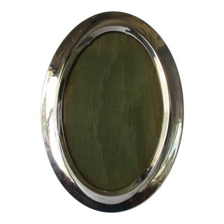 Antique Victorian Oval Sterling Silver Photo Frame For Sale