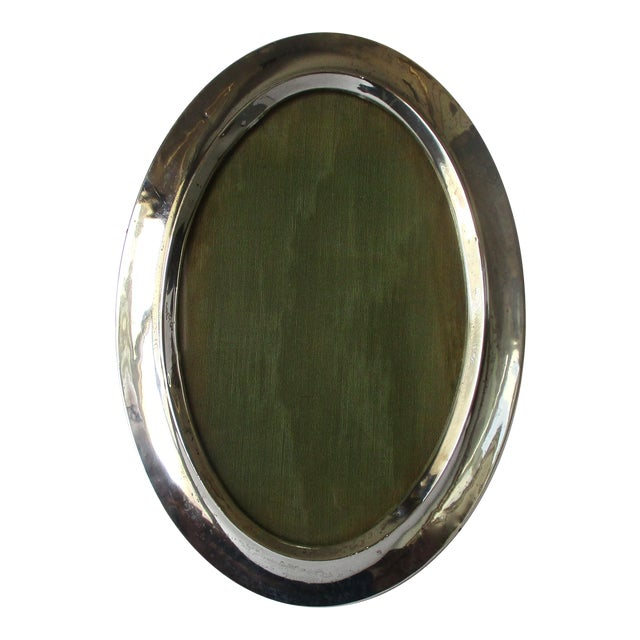 Antique Victorian Oval Sterling Silver Photo Frame Chairish