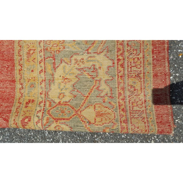 Early 19th Century Antique Turkish Oushak Rug - 9′6″ × 13′4″ For Sale In Baltimore - Image 6 of 12