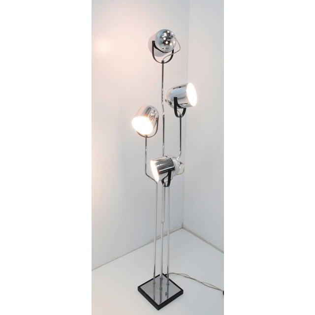 Reggiani 4 Head Chrome and Black Floor Lamp For Sale - Image 11 of 11