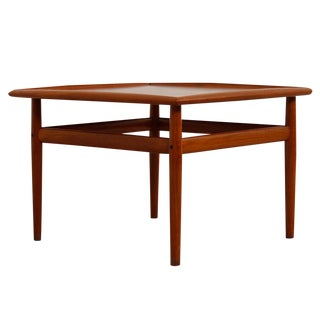 Grete Jalk Square Danish Modern Teak Coffee / End / Accent Table