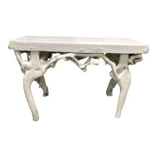 Custom Wood Console Table