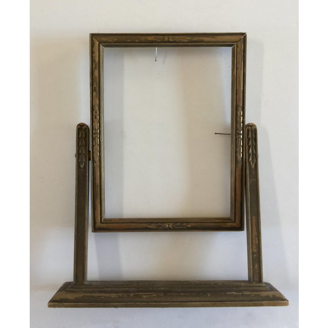Vintage Carved Wooden Frame on Stand   Chairish