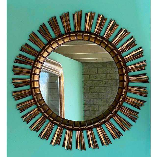 Gilt Sunburst Mirror For Sale In Dallas - Image 6 of 6