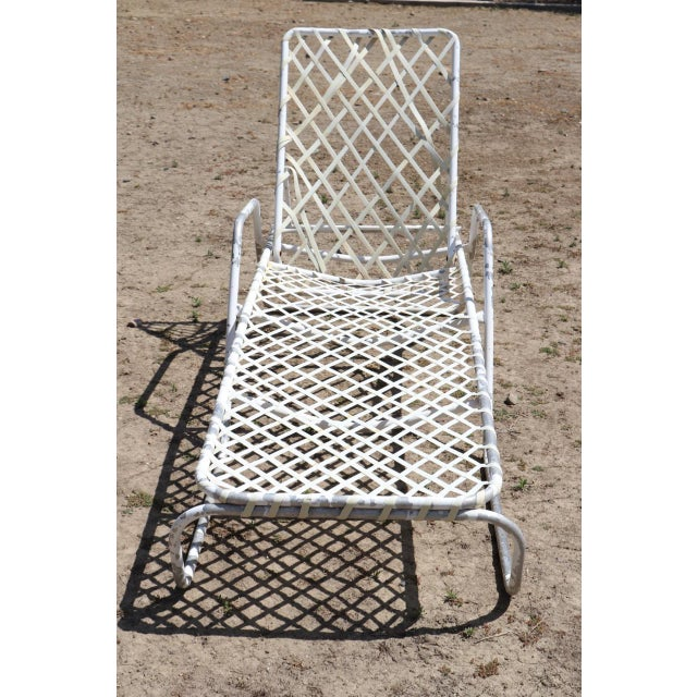Brown Jordan 1960s Mid-Century Modern Brown Jordan Tamiami White Aluminum Adjustable Lounger For Sale - Image 4 of 4