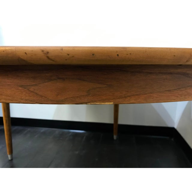 Mid-Century Modern B P John Wood Dining Table For Sale - Image 9 of 12