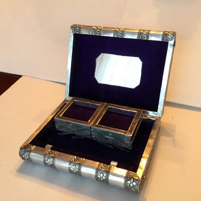 Silver Metal Jewelry Box - Image 6 of 11