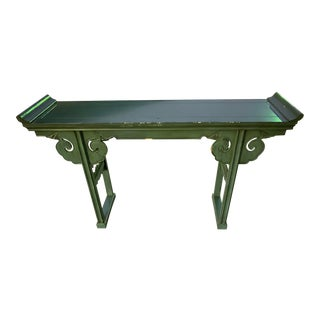 Chinese Alter Console Table in the Manner of James Mont For Sale