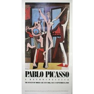 Vintage 1980 MoMA Picasso Retrospective Poster For Sale