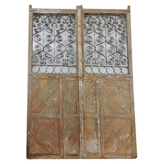 Rustic Wood & Iron Gate For Sale