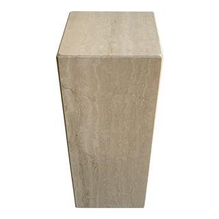 Travertine Pedestal Plinth For Sale