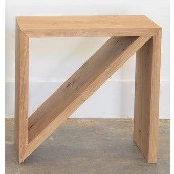 Metal Ozshop Isosceles Side Tables Natural Oak For Sale - Image 7 of 7