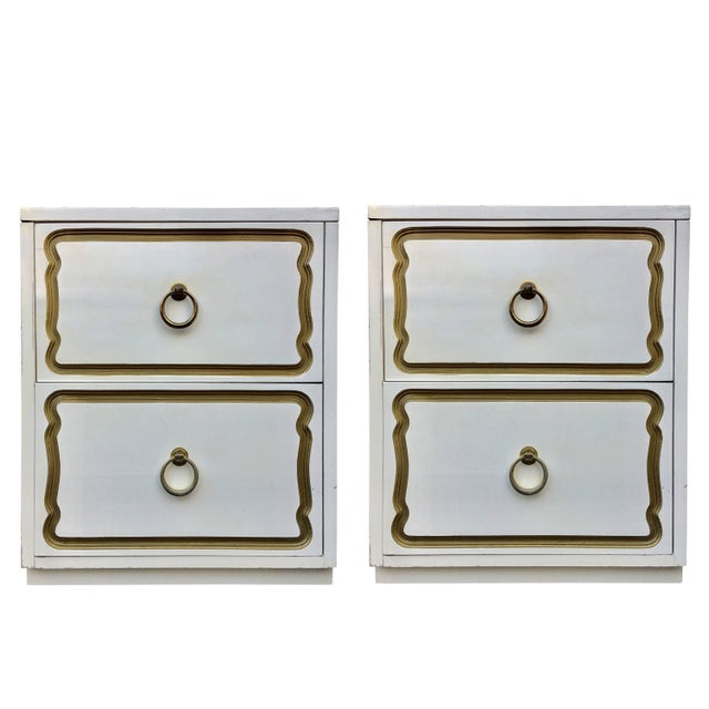 Dorothy Draper Espana Style Hollywood Regency Nightstands, Pair For Sale - Image 10 of 10