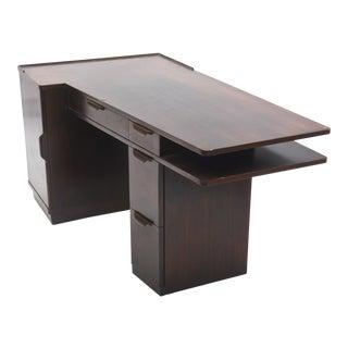 American Modern Dark Walnut Desk, Edward Wormley, Dunbar For Sale