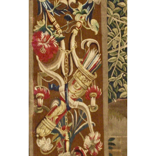 Silk 1700s Beauvais Tapestry Wall Hanging For Sale - Image 7 of 13
