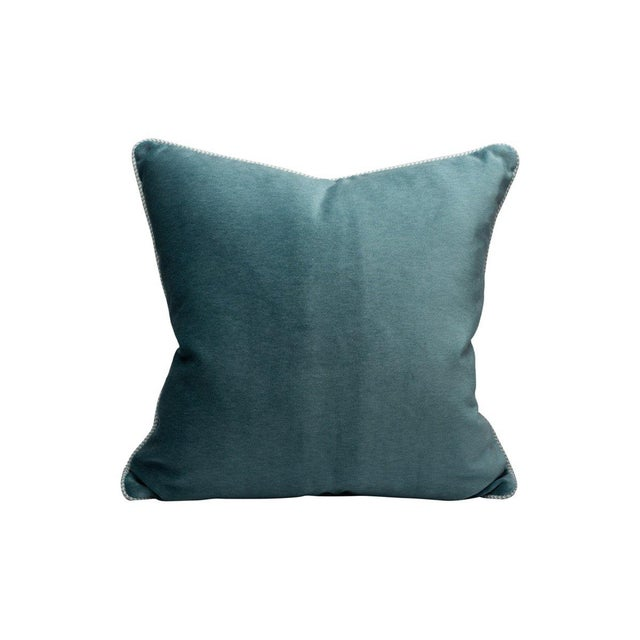 Traditional Bay Velvet Pillow, Surf For Sale - Image 3 of 3