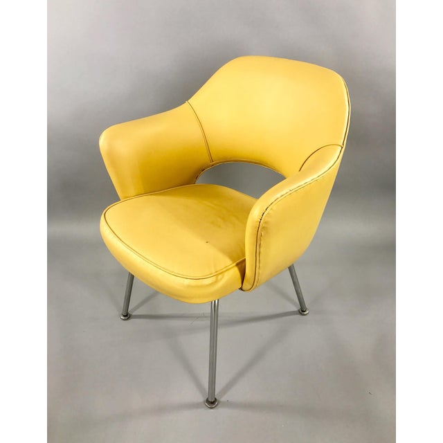 Original 1950's Vintage Eero Saarinen for Knoll Model 71 Executive Armchairs - a Pair For Sale - Image 6 of 11