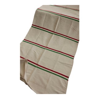 Vintage European Italian Flag Stripes Green Red Mattress Daybed Cover For Sale