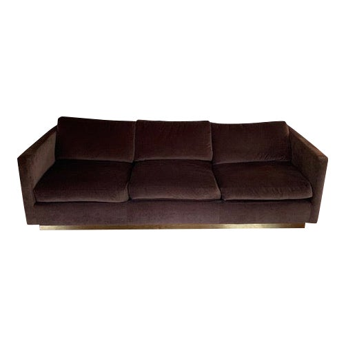 Mid-Century Milo Baughman for Thayer Coggin Tuxedo Sofa For Sale