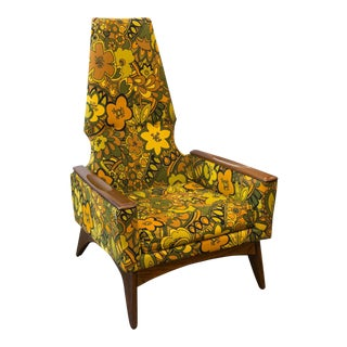 Pearsall-Style Kroehler High Back Lounge Chair For Sale