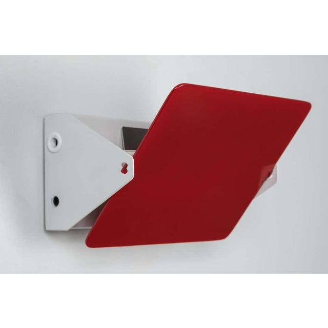 2010s Charlotte Perriand Red Cp1 Wall Lights - a Pair For Sale - Image 5 of 8
