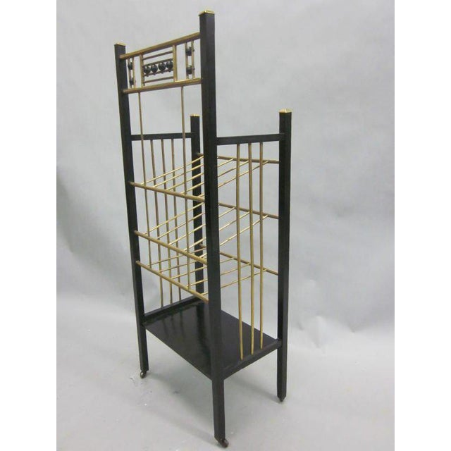 Viennese Secession Etagere / Magazine Stand in the Style of Koloman Moser For Sale - Image 4 of 10