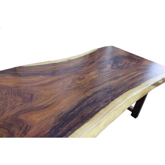 Raw Wood Rectangular Plank Table / Desk For Sale - Image 5 of 7