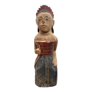 Early 20th Century Balinese Wooden Statue For Sale