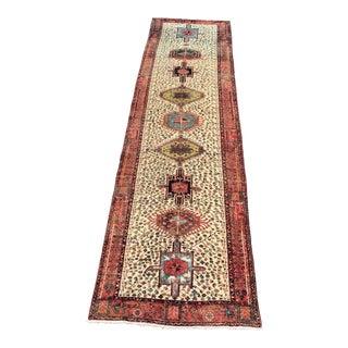Vintage Persian Sarab Runner - 4' x 14'