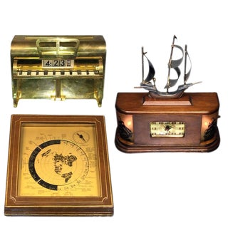 THREE ART DECO NOVELTY CLOCKS For Sale