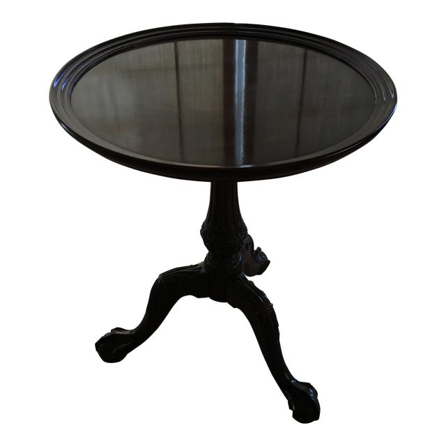 Henredon Ball & Claw Round Side Table - Image 1 of 6