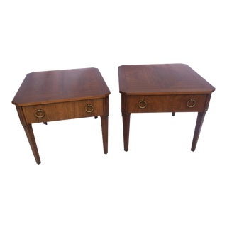 20th Century Neoclassical Baker End Tables - a Pair For Sale