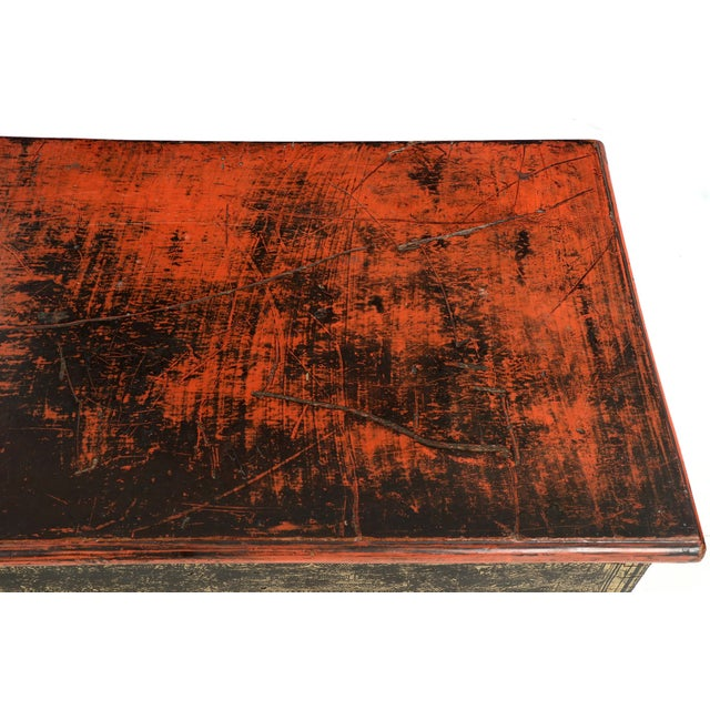 Antique Chinese Red and Gold Blanket Chest, 19th C - Image 4 of 10
