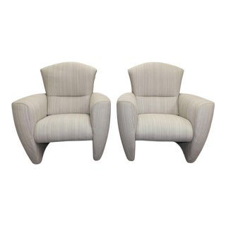 Modern Club Chairs Made in Belgium by Jori- a Pair For Sale