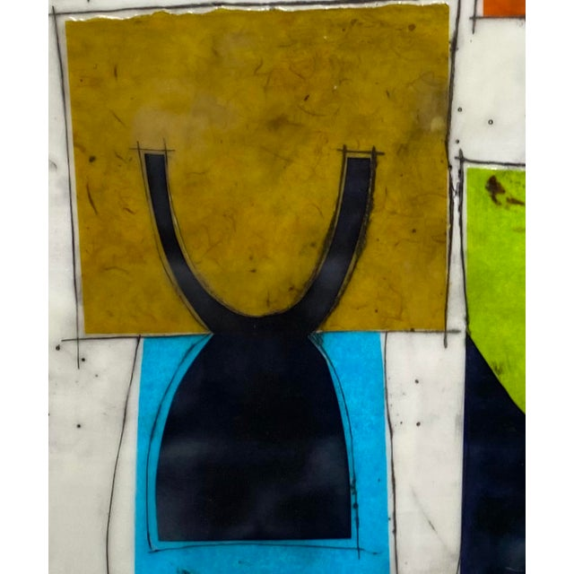 """""""Based on a True Story"""" Encaustic Collage Painting by Gina Cochran For Sale - Image 4 of 7"""
