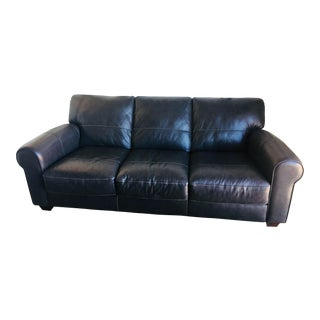 Furniture Row Contemporary Leather Couch For Sale