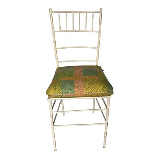 Vintage Faux Bamboo Metal Chiavari Chair